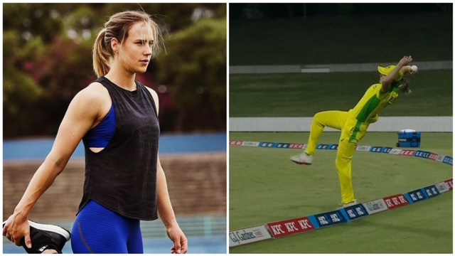 During the second ODI match of the Ausw vs Nzw ODI series, Australian fielder Ellyse Perry puts her 100% effort to save a six.