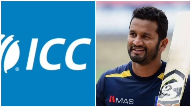 After realizing their mistake, ICC deleted the post and reposted it tagging the correct batsman in the picture Lahiru Thirimanne.