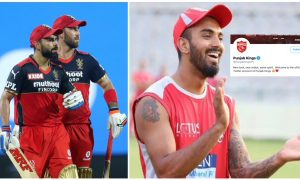 IPl 2021: An on-song RCB decided to poke some fun at the Punjab Kings, by 'thanking' them for releasing Maxwell