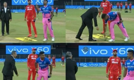 Watch: Rajasthan captain Sanju Samson talks about his funny incident with the coin at the toss.