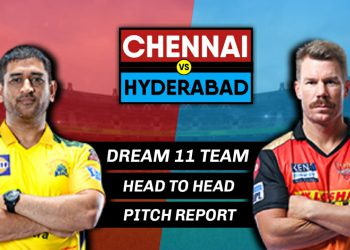 CHE vs HYD IPL 2021 match scheduled to play at Delhi.