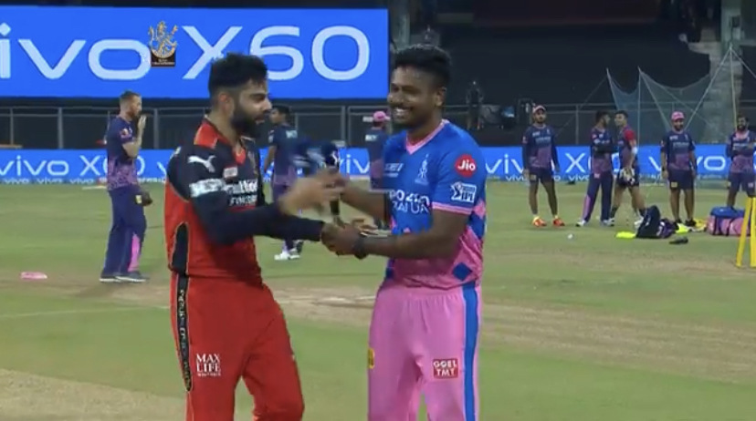 RCB took RR in the 16th match at the Wankhede Stadium. During the RCB vs RR match, Virat Kohli after winning the toss couldn't believe it.