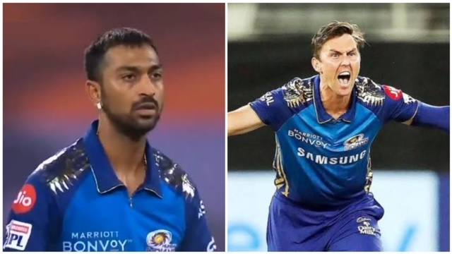 In the 27th match of IPL 2021 edition, Trent Boult was displeased with Krunal's effort and could be seen fuming.