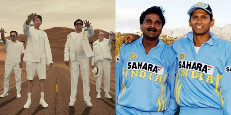 Cast of four cricketers featured in the latest CRED commercial