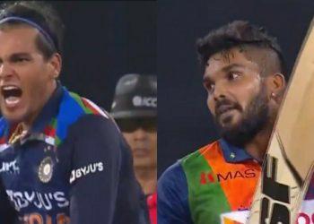 Rahul Chahar and Wanindu Hasaranga (Pic - Twitter)