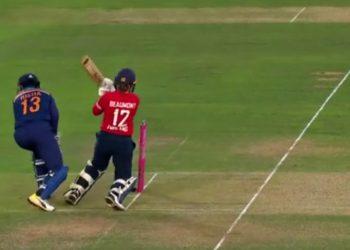 Tammy Beaumont's Shot (Screenshot - Sky Cricket)