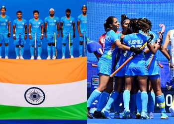 India men and women's hockey teams at the Olympics (AFP Photo)