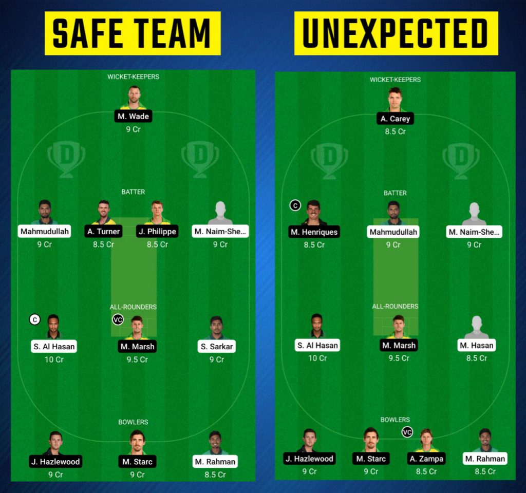 BAN vs AUS Dream11 Prediction for Today's Match