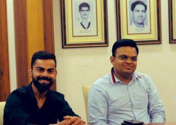 Jay Shah and Virat Kohli.
