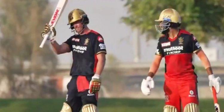 AB de Villiers slams century in RCB's Practice Match (Pic - RCB Twitter)