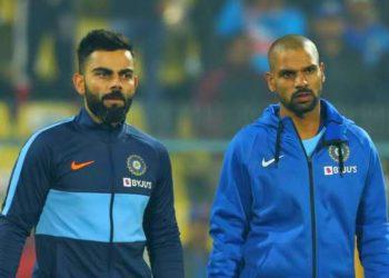 Virat Kohli and Shikhar Dhawan (Photo - BCCI)