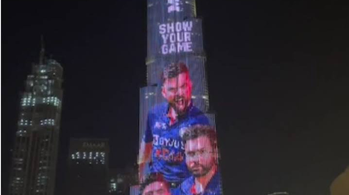 The 'Billion Cheers Jersey' lit up Burj Khalifa as UAE extended its support to Indian cricket.