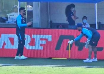 Dhoni and Pant steal the screen time during the match.
