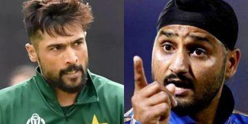 Mohammad Amir and Harbhajan Singh (Pic - Twitter)