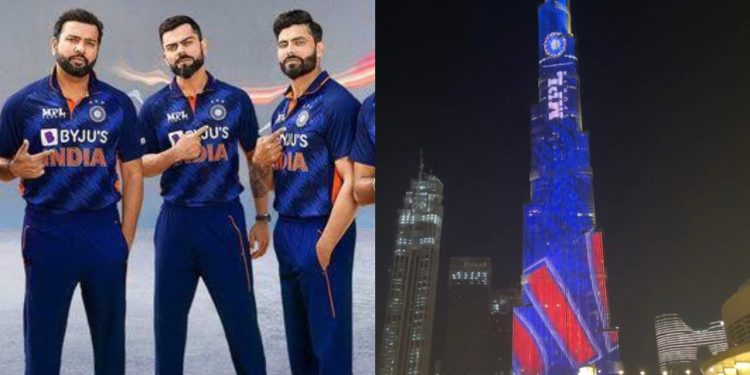The 'Billion Cheers Jersey' lit up Burj Khalifa as UAE extended its support to Indian cricket The 'Billion Cheers Jersey' lit up Burj Khalifa