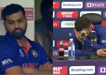 Virat Kohli laughed on journalist's question (Pic - Disney+Hotstar/ICC)