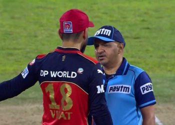 Virat Kohli had an argument with the Umpire (Pic Credit - Disney+Hotstar/IPLT20)